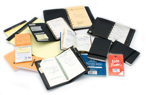 Diaries, notepads, etc.