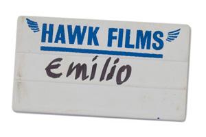 Emilio's badge